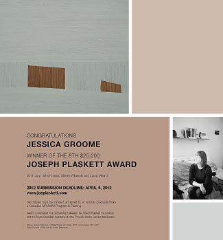 Winner's announcement in Canadian Art magazine Design: Stefanie Fiore (Image courtesy of Canadian Art Magazine)