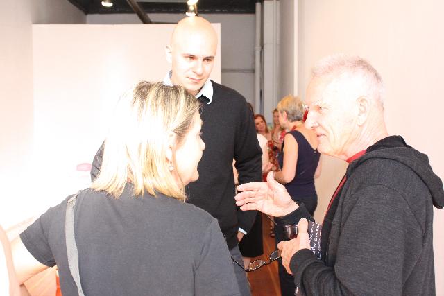 Le lauréat 2009, Vitaly Medvedovsky, avec les membres de l'Académie Gary Neill Kennedy et Landon Mackenzie.
