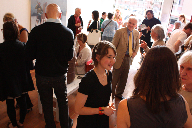 RCA Academicians and Calgary art community gather at The Plaskett Award Reception at the Stride Gallery in June.