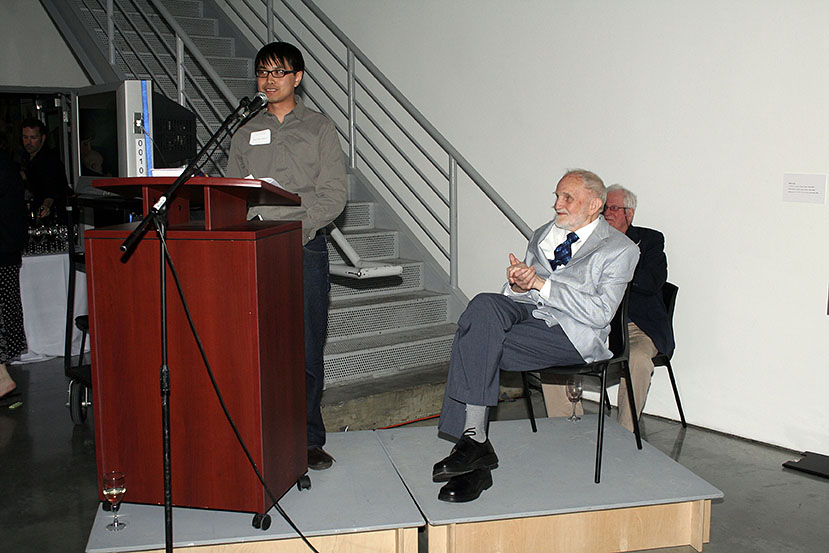 Nam Duc Nguyen with Joseph Plasket at Emily Carr University of Art and Design, 2008