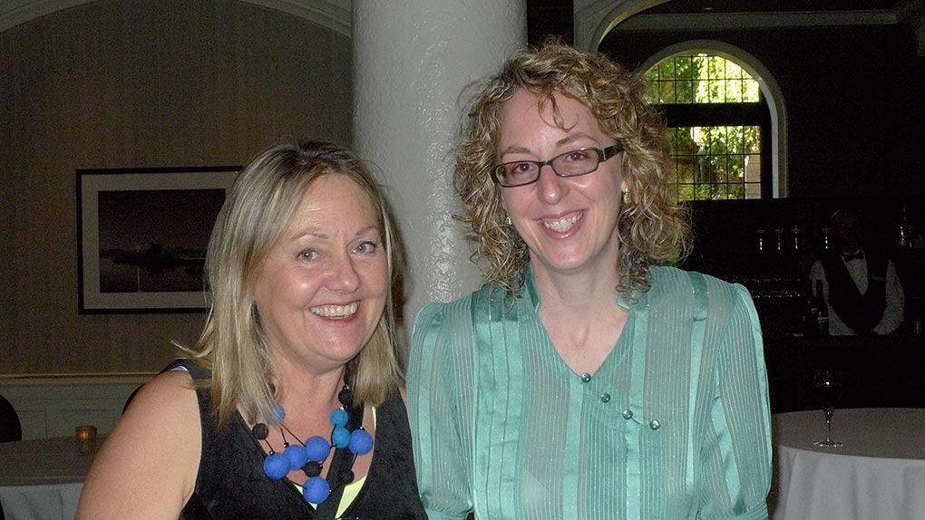 Landon Mackenzie with Julie Trudel after presenting Award