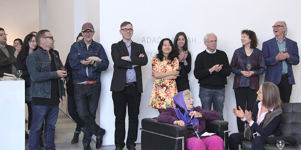 Winner fetted by Neil Campbell and Chief Curator of VAG Daina Augautis and others