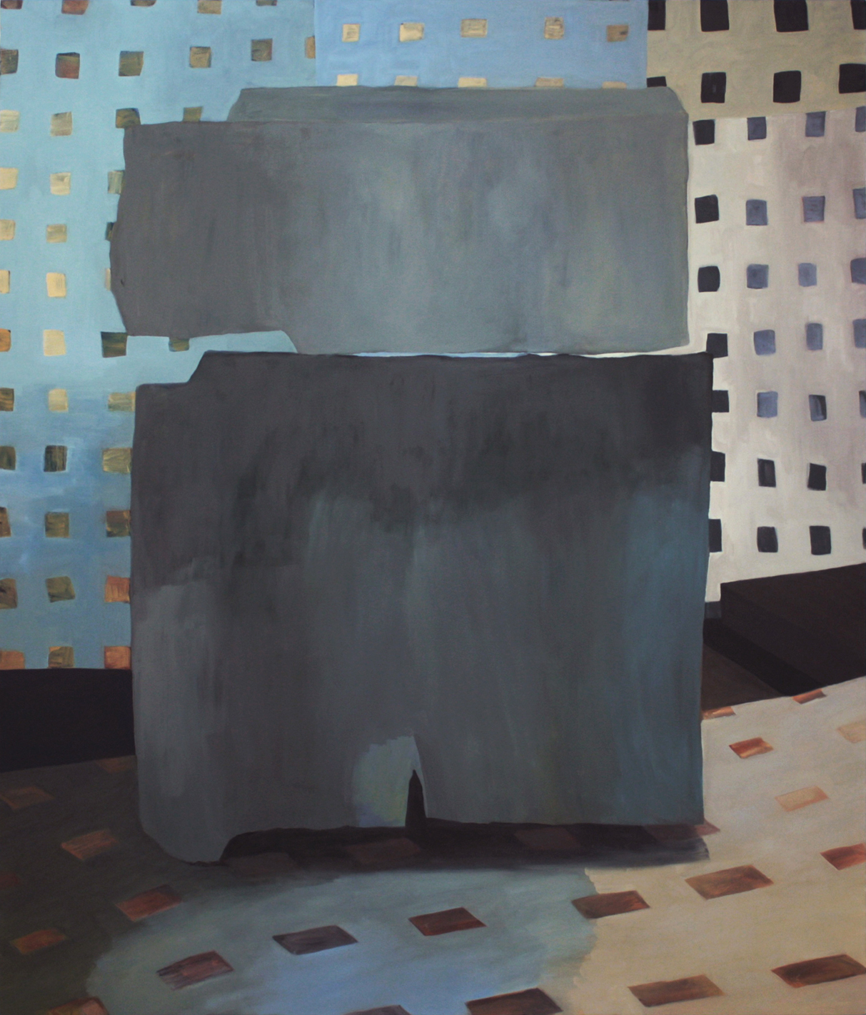 """Grid and Grit, 2015, oil on canvas, 84"""" x 72"""""""