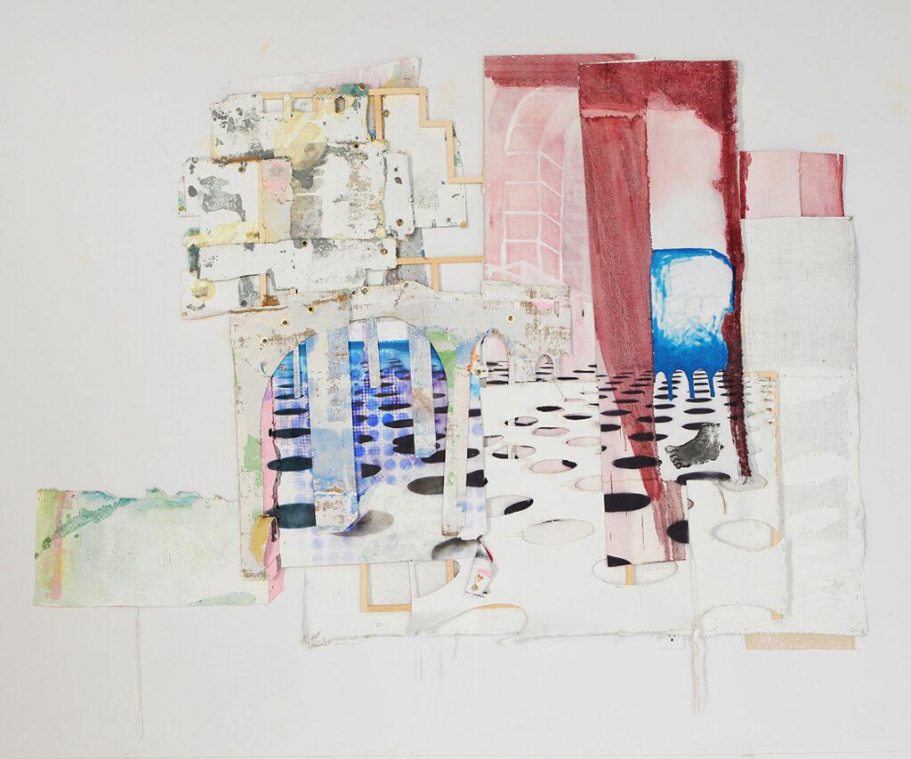 Klingzinger, 2019, oil on laser cut canvas, 54 x 65 inches